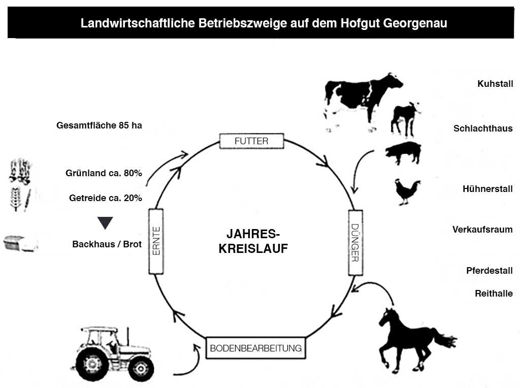 Hof Georgenau Hofgut Bewirtschasftungskreislauf