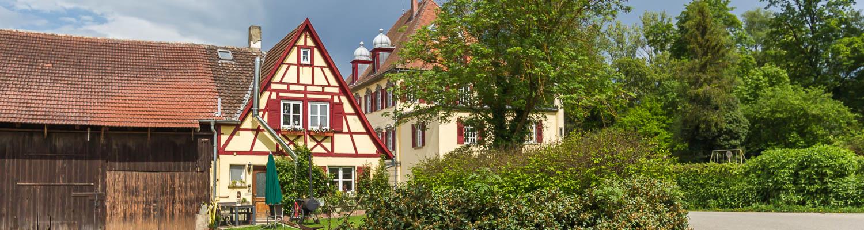 Hof Georgenau Hofgut Gebäude Ostseite Melkerhaus
