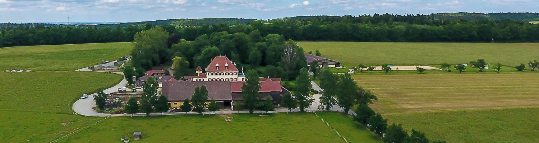 Hof Georgenau Hofgut Luftbild Südseite