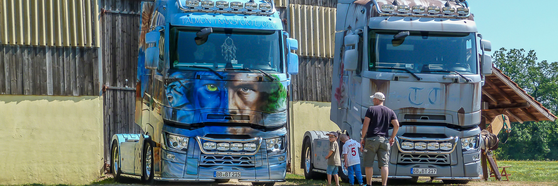Hof Georgenau Hofgut Truck Event Zugmaschinen Air Brush