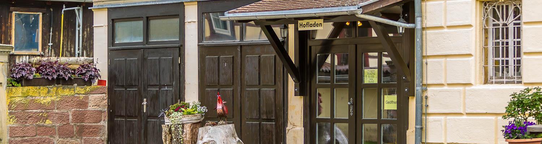 Hof Georgenau Hofgut Hofladen Eingang